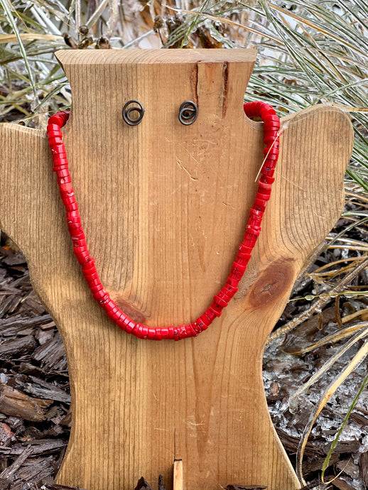 Dawson Red Beaded Necklace