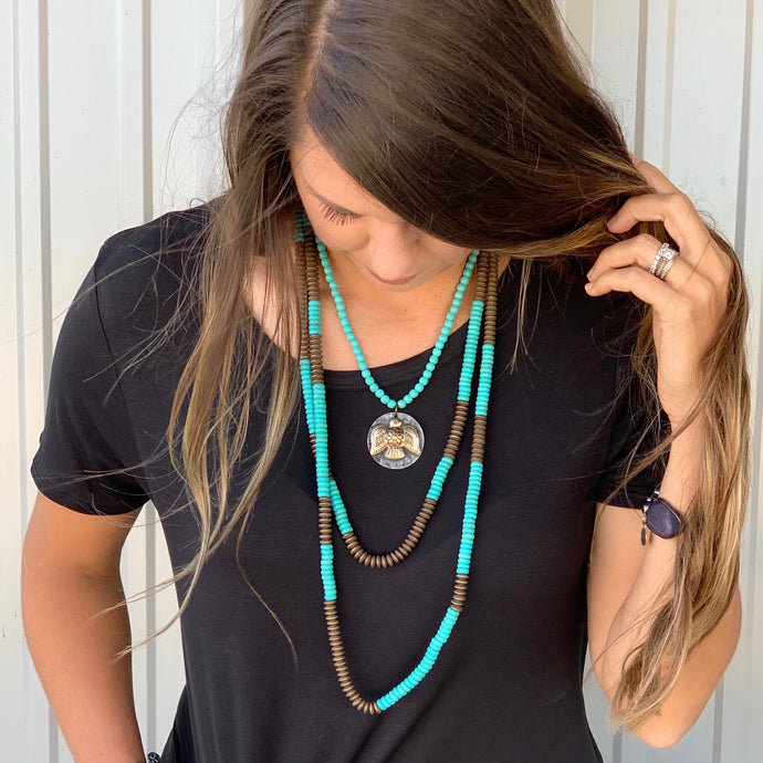 Kirby Turquoise 2 Strand Necklace