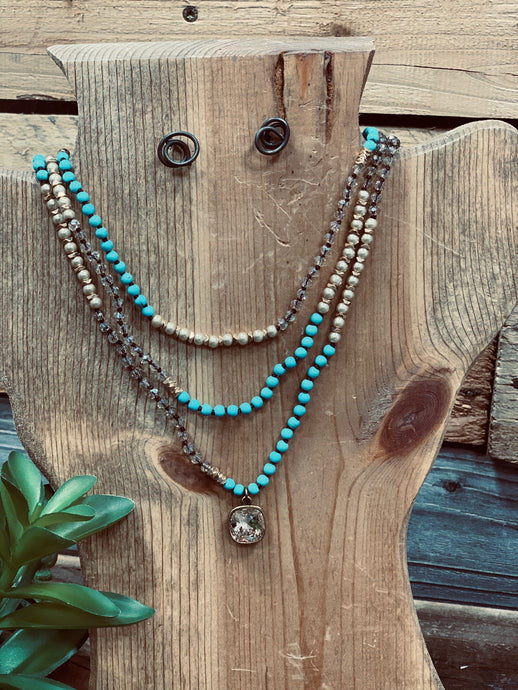 Lucas Turquoise Multi Necklace