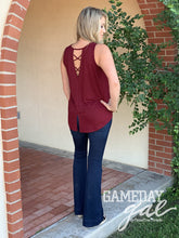 Skye Cross-Back Tank by GameDay Gal Tops  Texas True Threads - Horse Creek Boutique