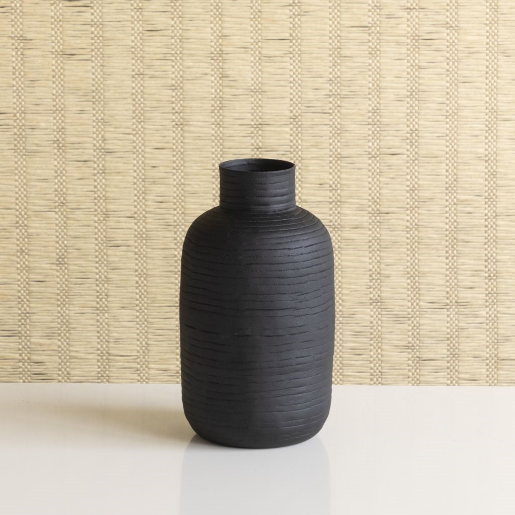 Ceylon Black Vase, Tall