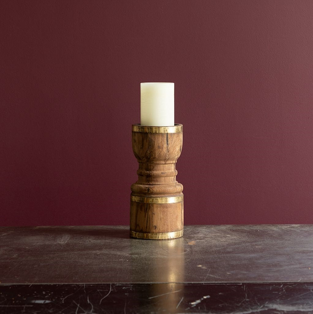 Found Candleholder