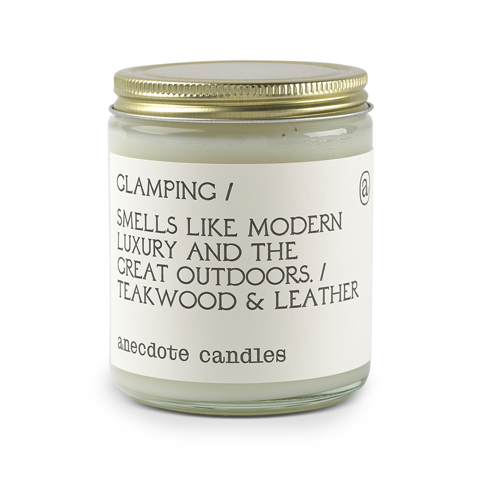 Glamping |Teakwood & Leather| Candle