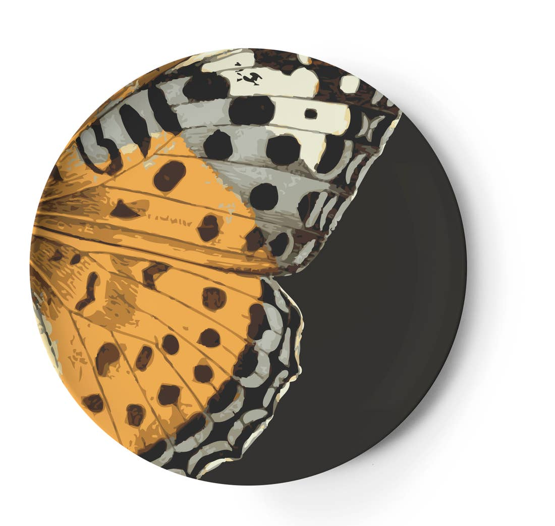 Metamorphosis Butterfly Dinner Plate, Melamime