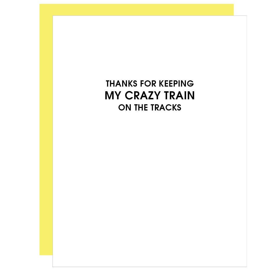 Crazy Train on the TracksCard