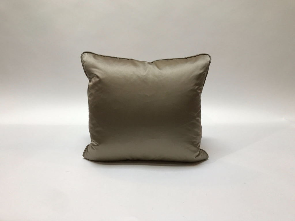 Donghia Silk Pillow, Silver