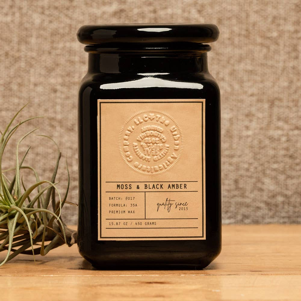 Moss & Black Amber Candle