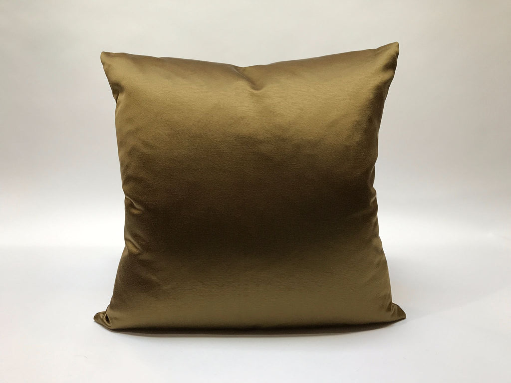Donghia Silk Pillow, Brass