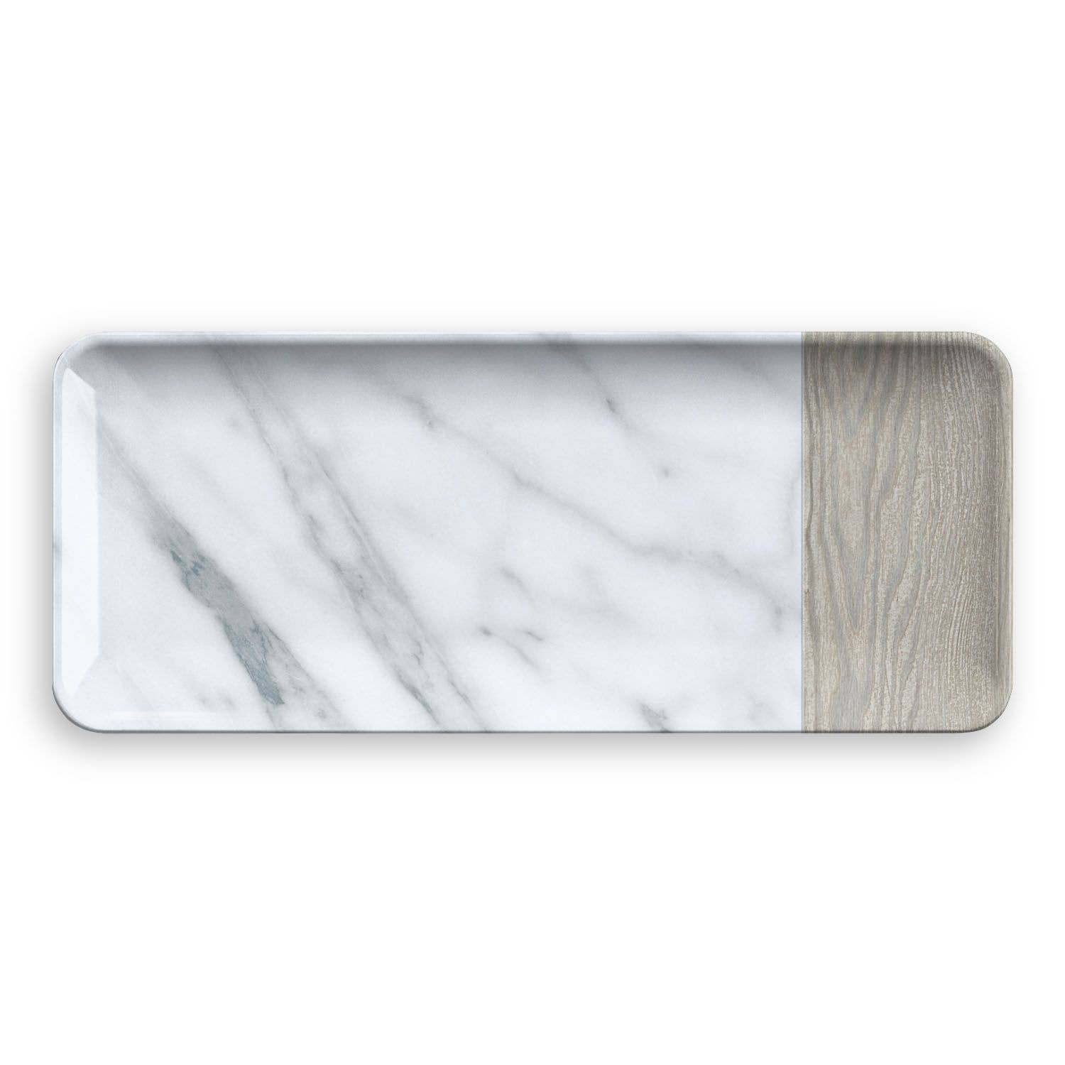 Carrara & French Oak Platter, Melamine