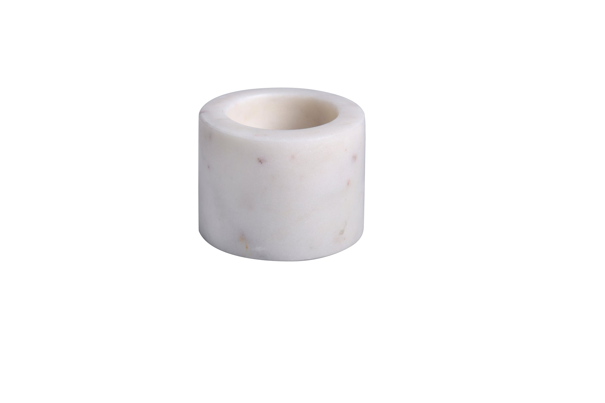Marble Votive Holder, White