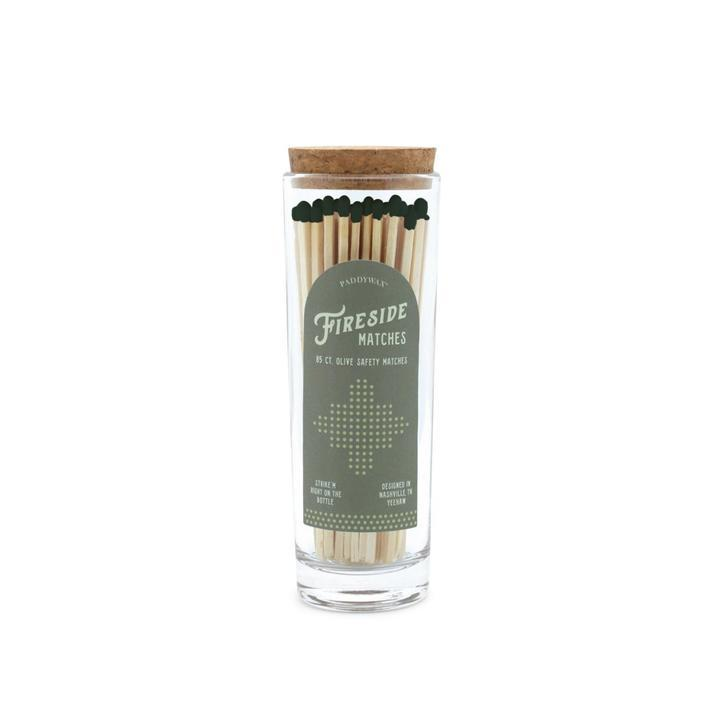 Fireside Safety Matches, Olive