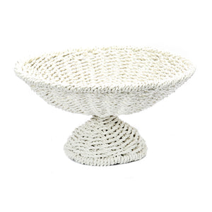 Seagrass Fruit Platter, White