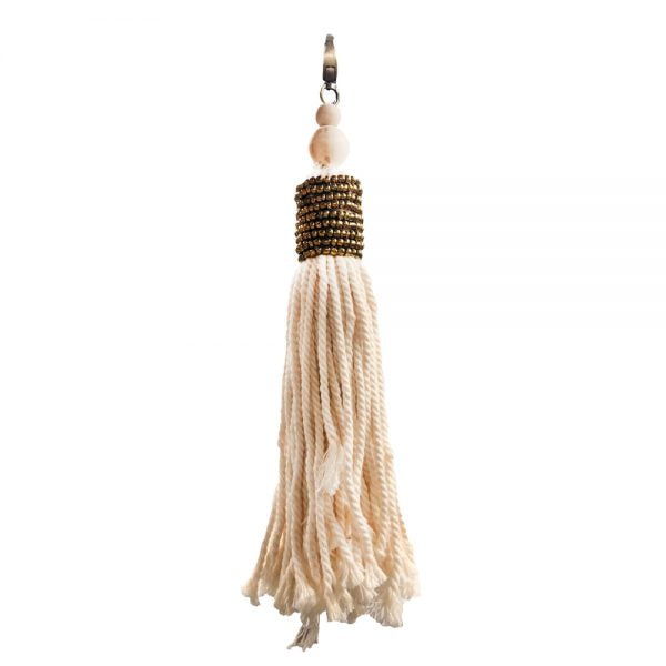 Boho Chic Keychain, Natural