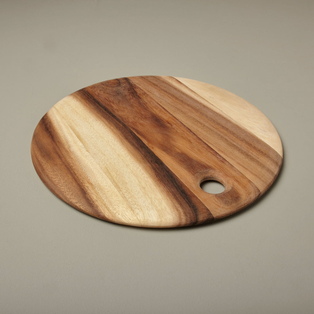 Acacia Round Serving Board, Medium