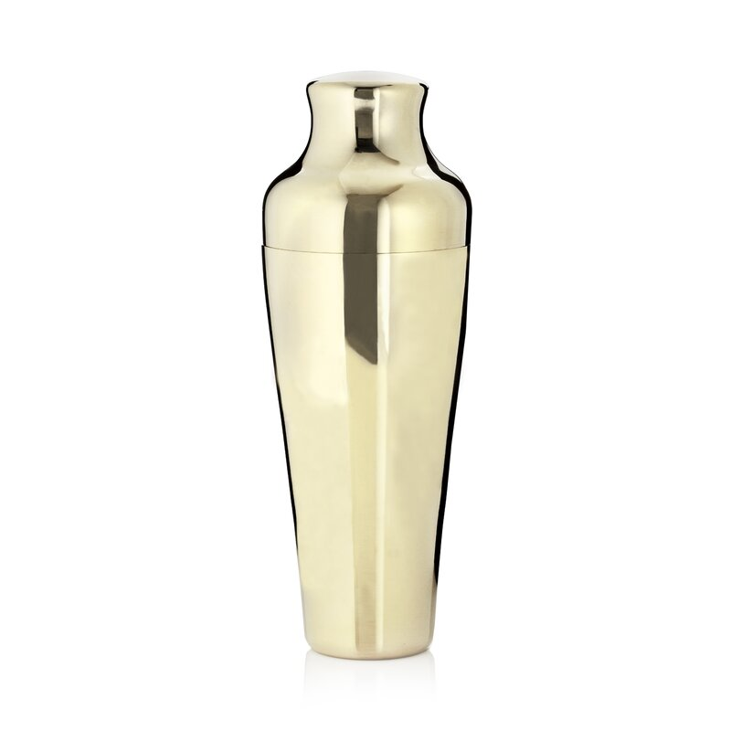 French-Style Gold Cocktail Shaker