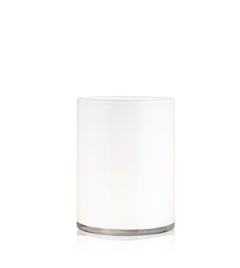White Hurricane Lamp Medium