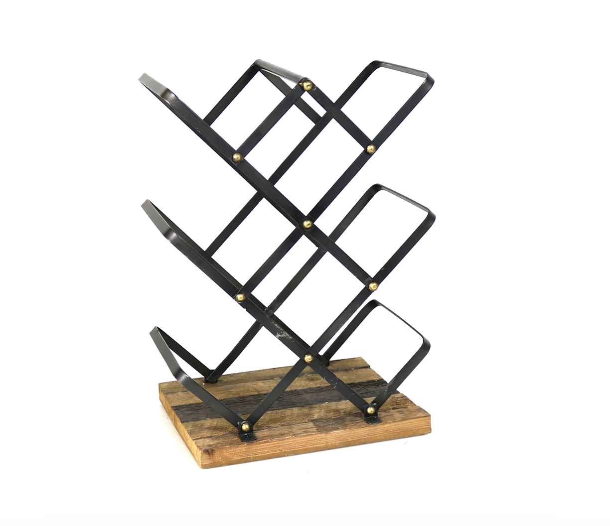 Jennings Wine Rack, Recycled Wood