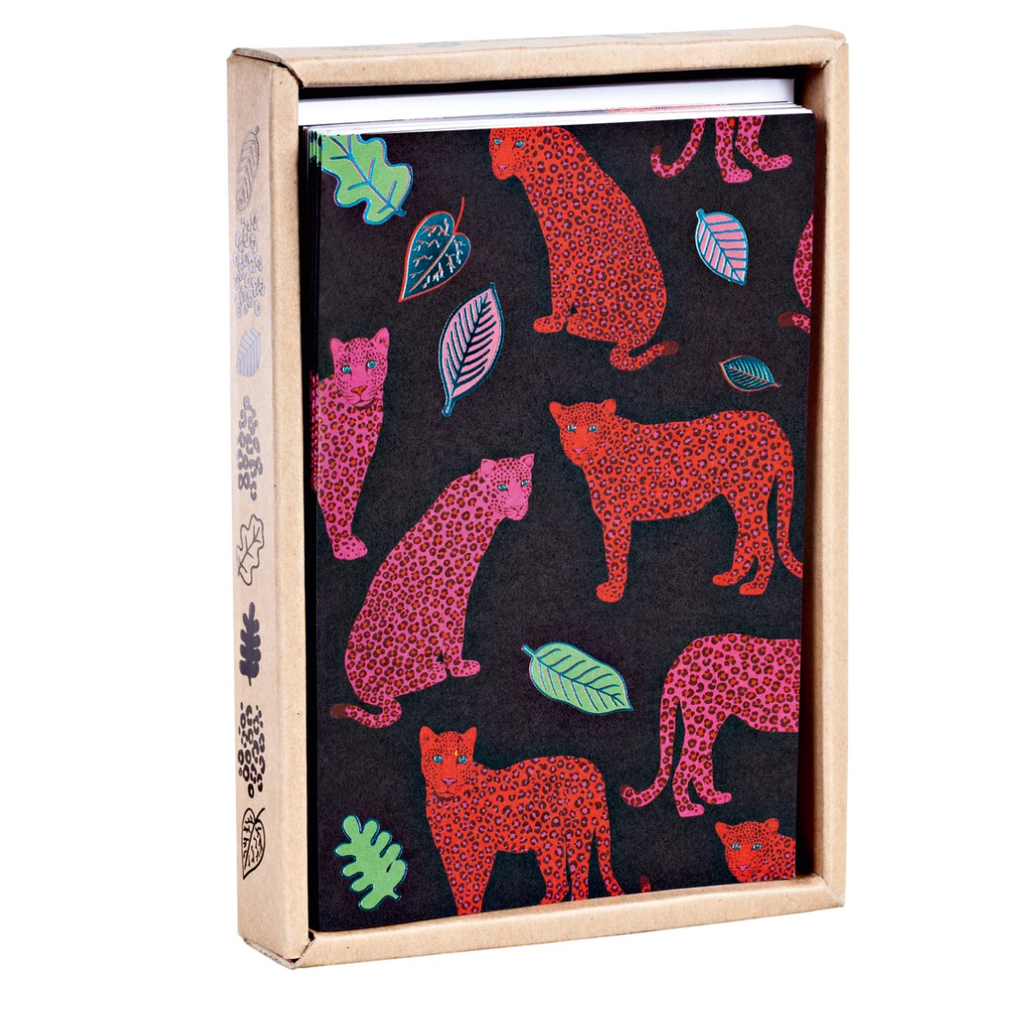 Luxe Leopard Notecard Box