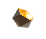 Gold Leaf Hexagon Tea Light Holder