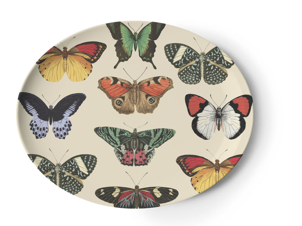 Metamorphosis Butterfly Oval Tray, Melamime