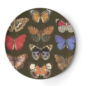 Metamorphosis Butterfly Round Tray, Melamime