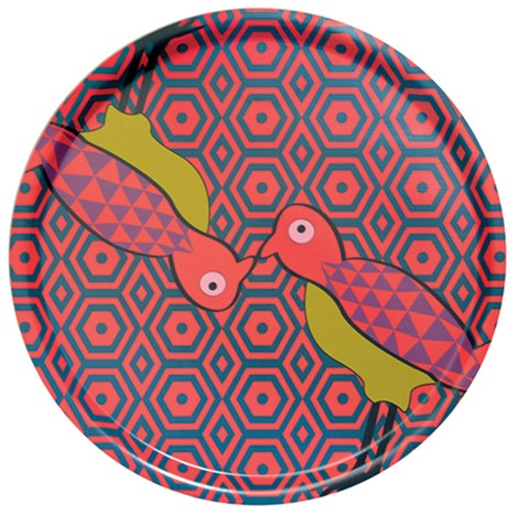Birds Of Paradise Round Tray