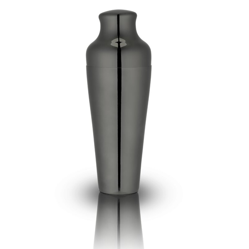 French-Style Gunmetal Black Cocktail Shaker