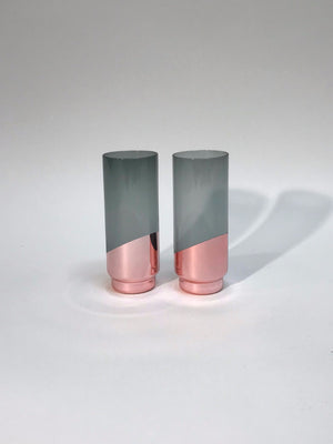 Dipped Copper Highball Glass, Set of Two