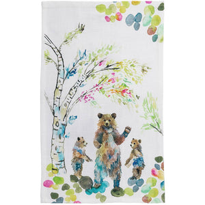 Woodland Bears Tea Towel