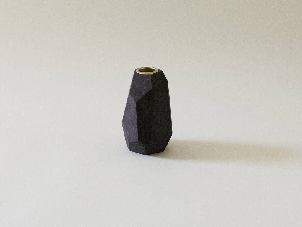 Ugo Candleholder, Walnut Tall
