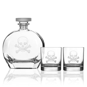 Skull Decanter Gift Set