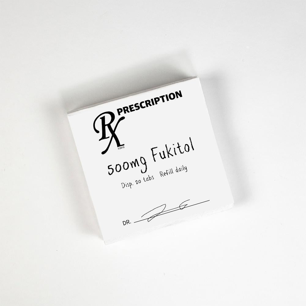 RX Prescription, 500 MG Fukitol Napkins