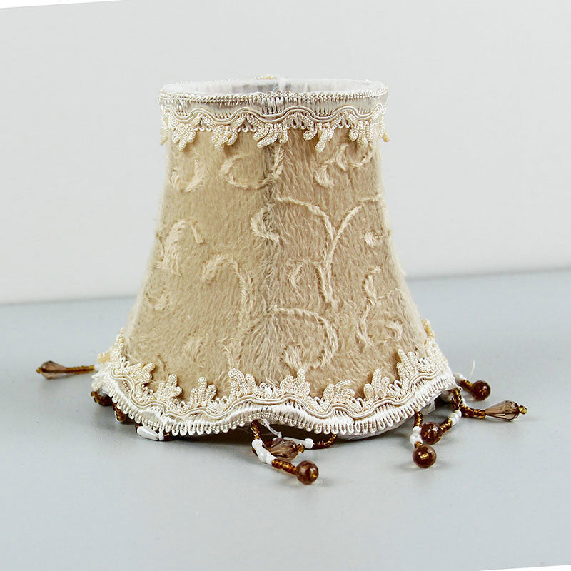 Flannel Beaded Cloth Lamp Shade Cover Table Lamp Living Room Bedroom Lights