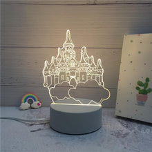 Kinky Cloth 39050508 Castle 3D LED Novelty Illusion Night Lamp