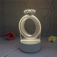 Kinky Cloth 39050508 Ring 3D LED Novelty Illusion Night Lamp