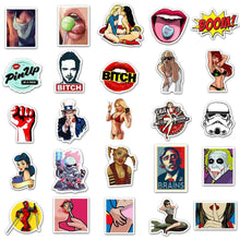 Kinky Cloth Stickers 50 Retro Stickers Pack