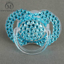 Kinky Cloth blue 6 to 18M ABDL Rhinestone Adult Pacifier Binkie