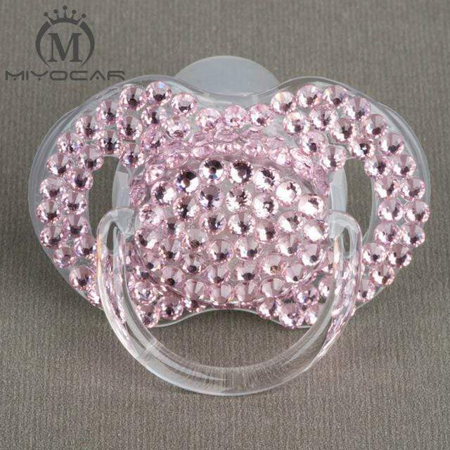 Kinky Cloth pink 6 to 18M ABDL Rhinestone Adult Pacifier Binkie