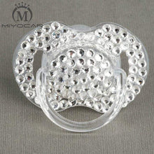 Kinky Cloth white 6 to 18M ABDL Rhinestone Adult Pacifier Binkie
