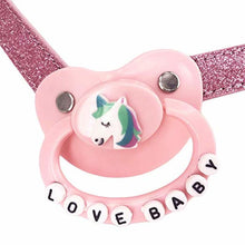 Kinky Cloth Necklace Adult Pacifier Choker
