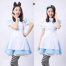 Load image into Gallery viewer, Kinky Cloth blue / L Alice in Wonderland Dress
