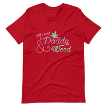 Kinky Cloth Red / S All I Need is Daddy and Weed T-Shirt