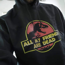 Load image into Gallery viewer, Scorpius Top ALL MY FRIENDS ARE DEAD Hoodie Black