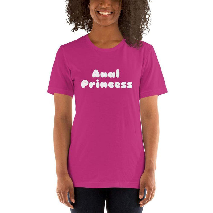 Kinky Cloth Berry / S Anal Princess White T-Shirt