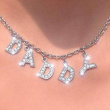 Kinky Cloth Necklace daddy Angel Crystal Letter Necklace