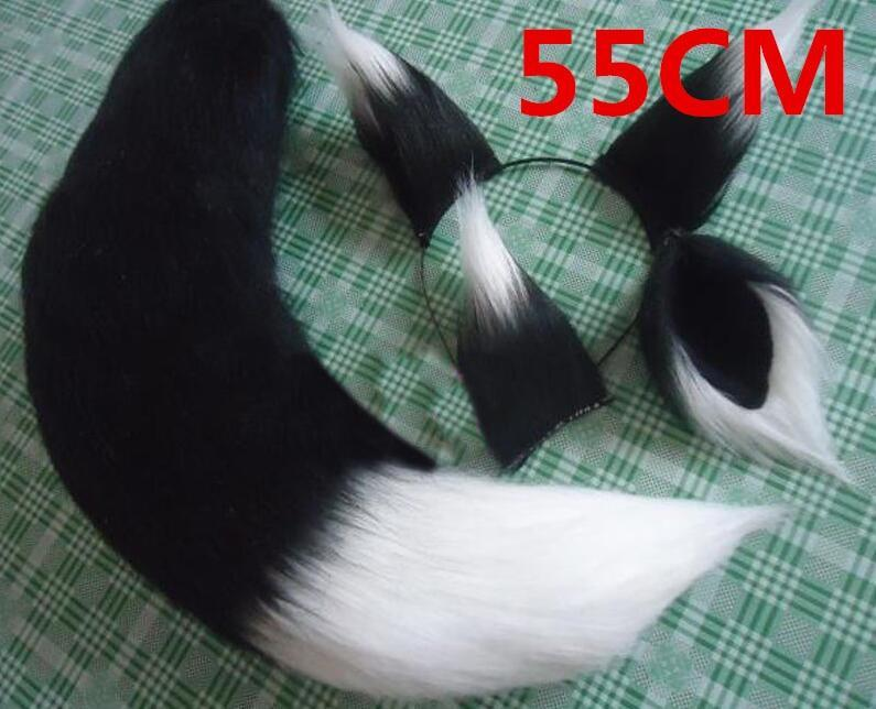 Kinky Cloth 200003991 Black 55cm Anime Fox Ears and Tail Set