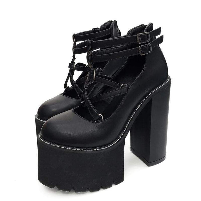 Kinky Cloth 200001012 Ankle Strap Platform Doll Shoes