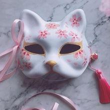 Kinky Cloth with flowers Asian Kitty Fox Mask