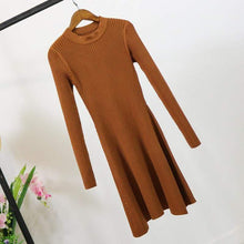 Kinky Cloth Dresses Brown / One Size Baby Doll Knit Sweater Dress