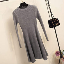 Kinky Cloth Dresses Gray / One Size Baby Doll Knit Sweater Dress